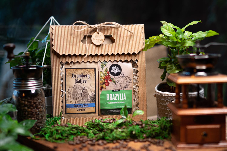 Zestaw prezentowy z kawą Original blend i kawą Brazil Yellow Bourbon
