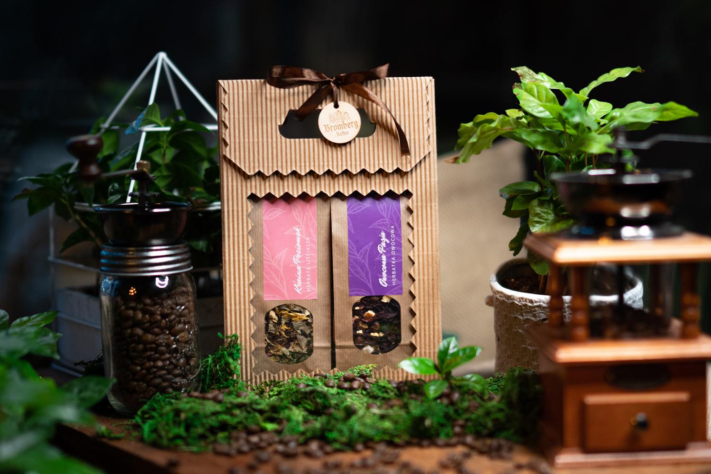 Zestaw prezentowy z dwoma herbatami Kraina poziomek i Owocowa pasja
