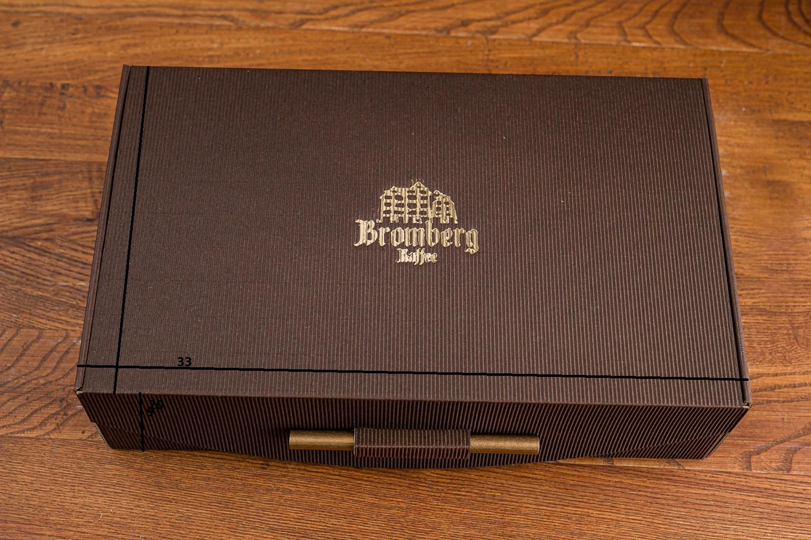 Pudełko z logo małe brąz