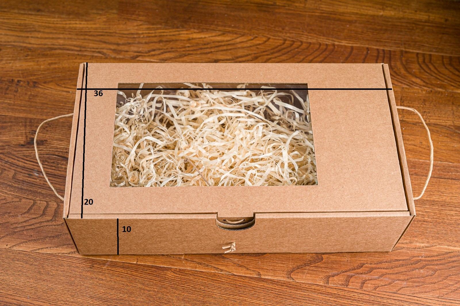 Pudełko z okienkiem średnie
